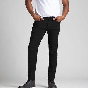Duer performance denim ultra lightweight super stretch black jeans size 30 x 30